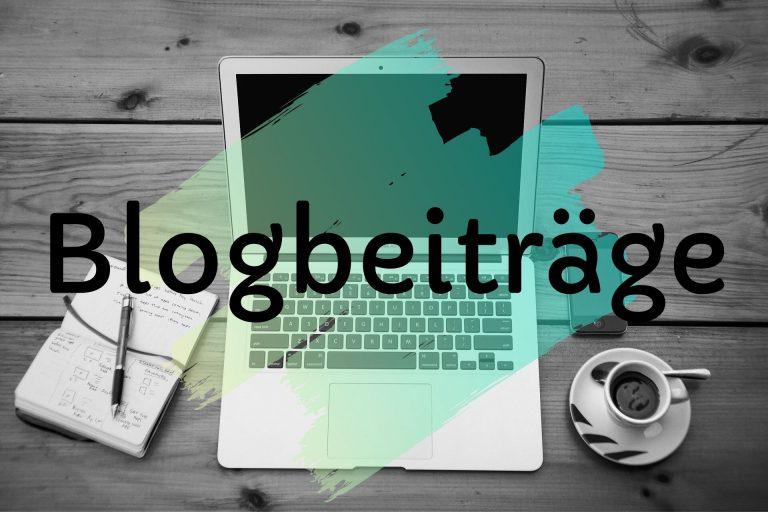 Blogbeiträge verfassen Angebot